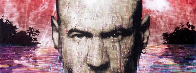 Detail of Fish's portrait from the cover art from the album Fellini Days
